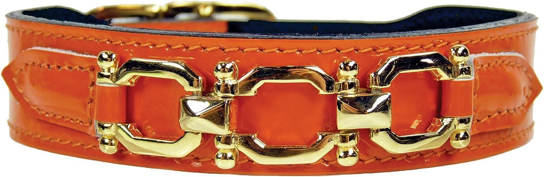 Hartman & pink Georgia pink Collar, 2224Inch, orange Patent