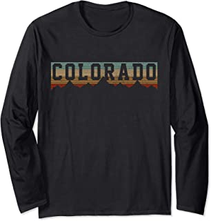 Colorado Vintage Rocky Mountains Nature Outdoor Hiking Gift Long Sleeve T-Shirt