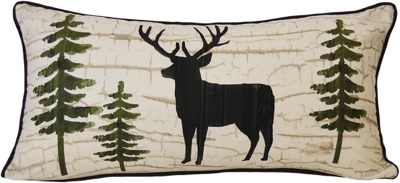 Donna Classic Sharp Throw Pillow Award - Lodge Painted P Deer Decorative