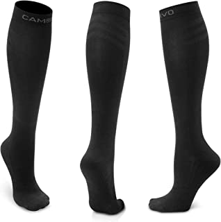 CAMBIVO 3 Pairs Sports Compression Socks for Women and Men, 20-30mmHg for Running, Flight,Travel
