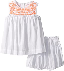 Ralph Lauren Baby - Embroidered Top & Bloomer Set (Infant)