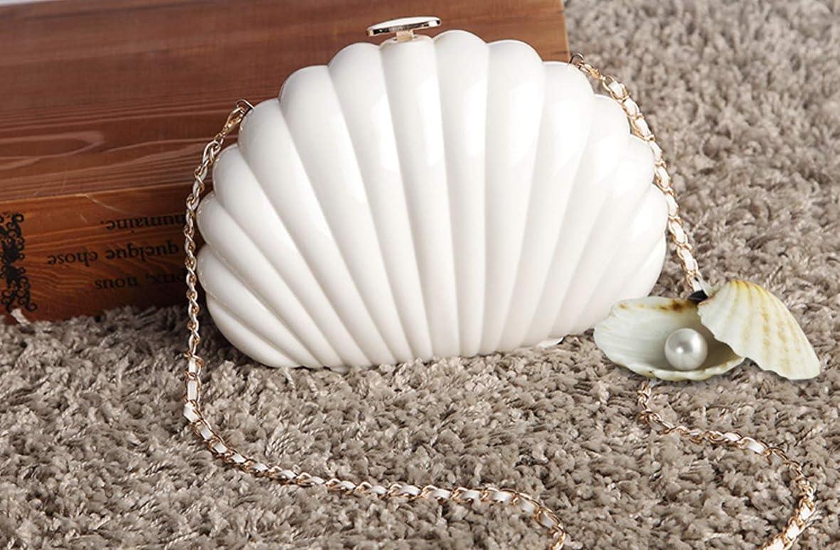 ジャベスウィルソン認証クレデンシャル新型アクリル小香風貝がら。扇形単肩包手提げ、斜めがけ何にでも合わせやすいなみめしもり真珠バッグ
