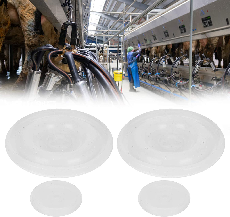 Rubber Cow Milking Pulsator Diaphragms Cow Milking Pulsator Repair Diaphragms for HL‑P07 Milking Machine Spare Parts Pulsator Diaphragm Zerodis 4pcs Pulsator Diaphragm