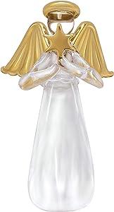 """Hallmark Keepsake Christmas Ornament 2019 Miniature Glass Angel, 3.75"""", Mini Tree Topper"""