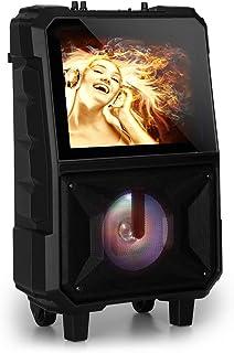 auna CenterStage 8 - mobiel karaoke-luidsprekersysteem, karaoke-systeem, Bluetooth, 40 Watt RMS, USB, MicroSD-sleuf, 14,1-...