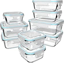 Glass Food Storage Containers with Lids - Glass Containers with Lids for Food - Reusable Bento Box Glass Lunch Containers ...