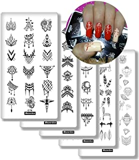10Pcs Nail Art Stamping Template Set French Design Lace Flower Leaf Geometric Cute Animal Pattern Manicure Print Image Plates