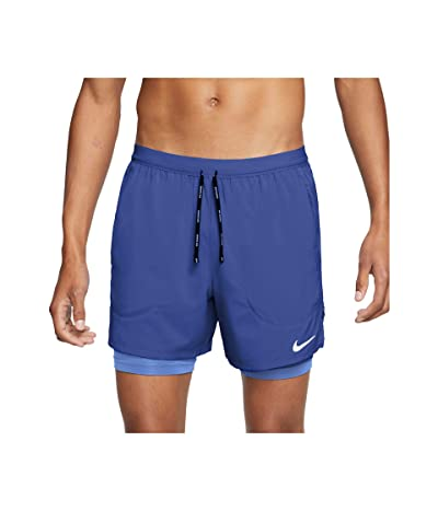 Nike Flex Stride 2-in-1 Shorts 5 (Astronomy Blue/Reflective Silver) Men