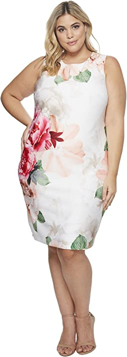 Plus Size Printed Scuba Dress