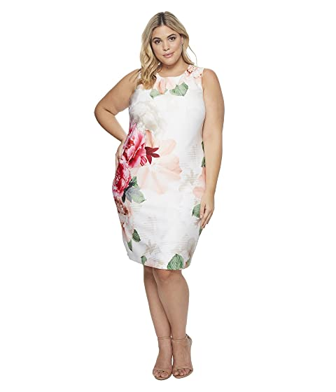 850b61bd2d7 Calvin Klein Plus Plus Size Printed Scuba Dress