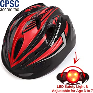 featured product Kids Bike Helmet – Adjustable from Toddler to Youth Size, Ages 3 to 7 - Durable Kid Bicycle Helmets with Fun Racing Design Boys and Girls Will Love - CSPC Certified for Safety