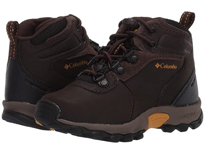 Columbia Kids  Newton Ridge Waterproof (Toddler/Little Kid) (Cordovan/Golden Yellow) Kids Shoes