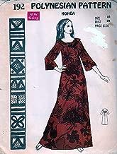 Polynesian Pattern 192 Vintage Hawaiian Nohea Dress, 1970s