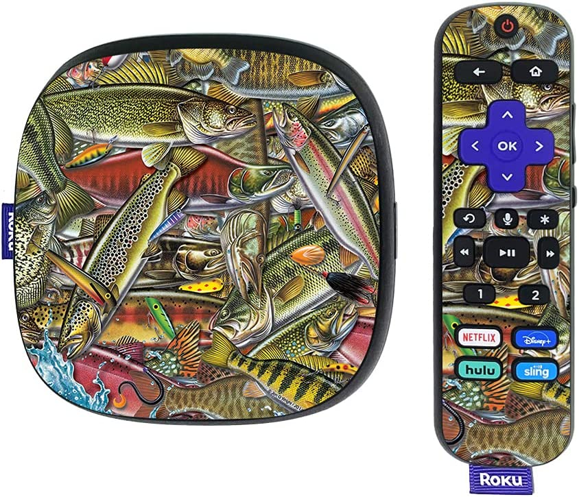MightySkins Skin Compatible with Roku Ultra HDR 4K Streaming Media Player (2020) - Fish Puzzle | Protective, Durable, and Unique Vinyl Decal wrap Cover | Easy to Apply | Made in The USA