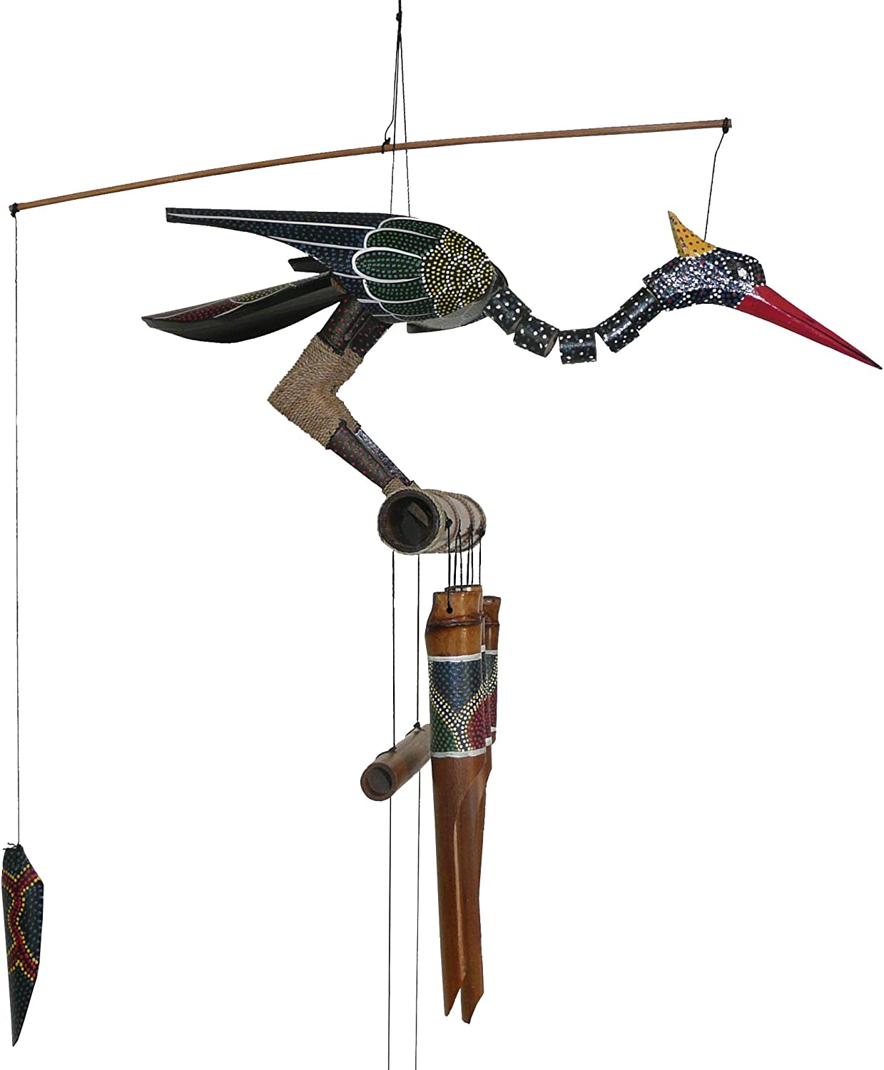 Cohasset Gifts 174A It is very popular Abby Bobbing Bird Max 69% OFF Wind Head Bamboo