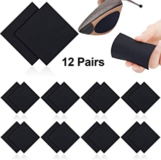 12 Pairs Non-Skid Shoe Pads Anti Slip Stick Pad High Heel Shoe Square Adhesive Sole Grips for for Shoes Skid Proof Sole Stick Protector