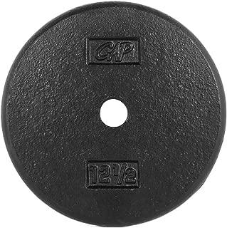 Cap Barbell Standard Weight Plate, 1-Inch, Black