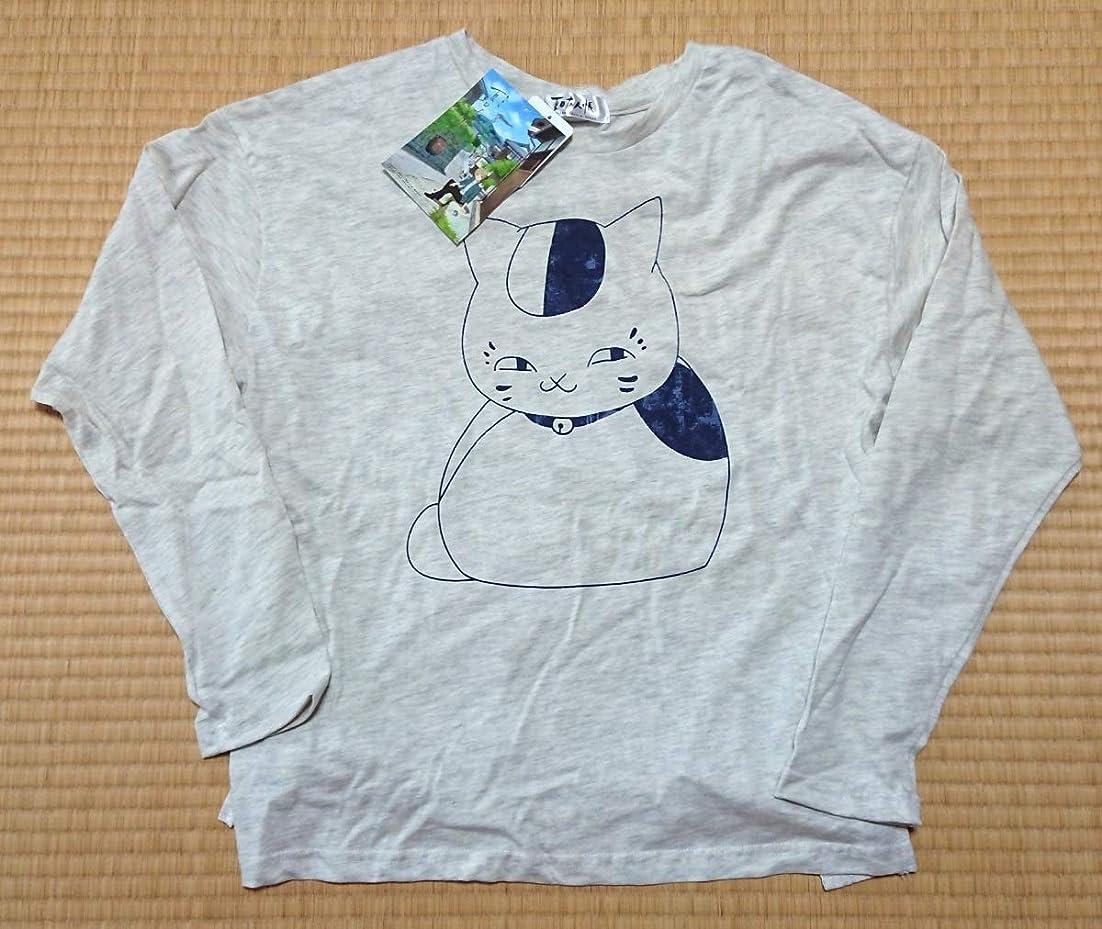 モロニック動的息子夏目友人帳 長袖Tシャツ ニャンコ先生プリント柄 アニメ 猫