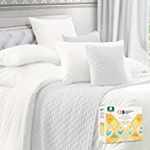 Pure White Duvet Cover King - 400 Thread Count 100% Cotton, 3 Piece Sateen Weave Bedding Set, Soft Luxury Comforter Cover ...