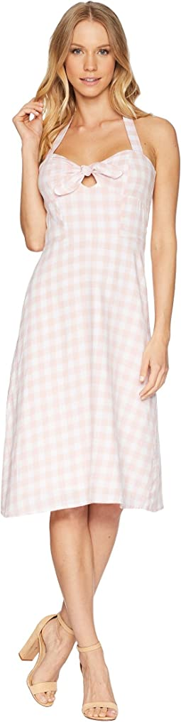 Annelise Gingham Halter Dress