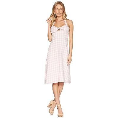 BB Dakota Annelise Gingham Halter Dress (Pink Blossom) Women