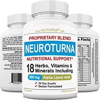 Nuturna Neuropathy Support Supplement, Nerve Pain Support with 600 mg Alpha Lipoic, Peripheral Neuropathy - Feet Hand Legs...