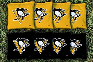 Victory Tailgate 8 Pittsburgh Penguins NHL Cornhole Game Bag Set (8 Bags Included, Corn-Filled)