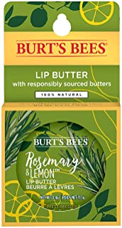 Burt's Bees 100% Natural Moisturizing Lip Butter with Rosemary & Lemon, 6 Tins