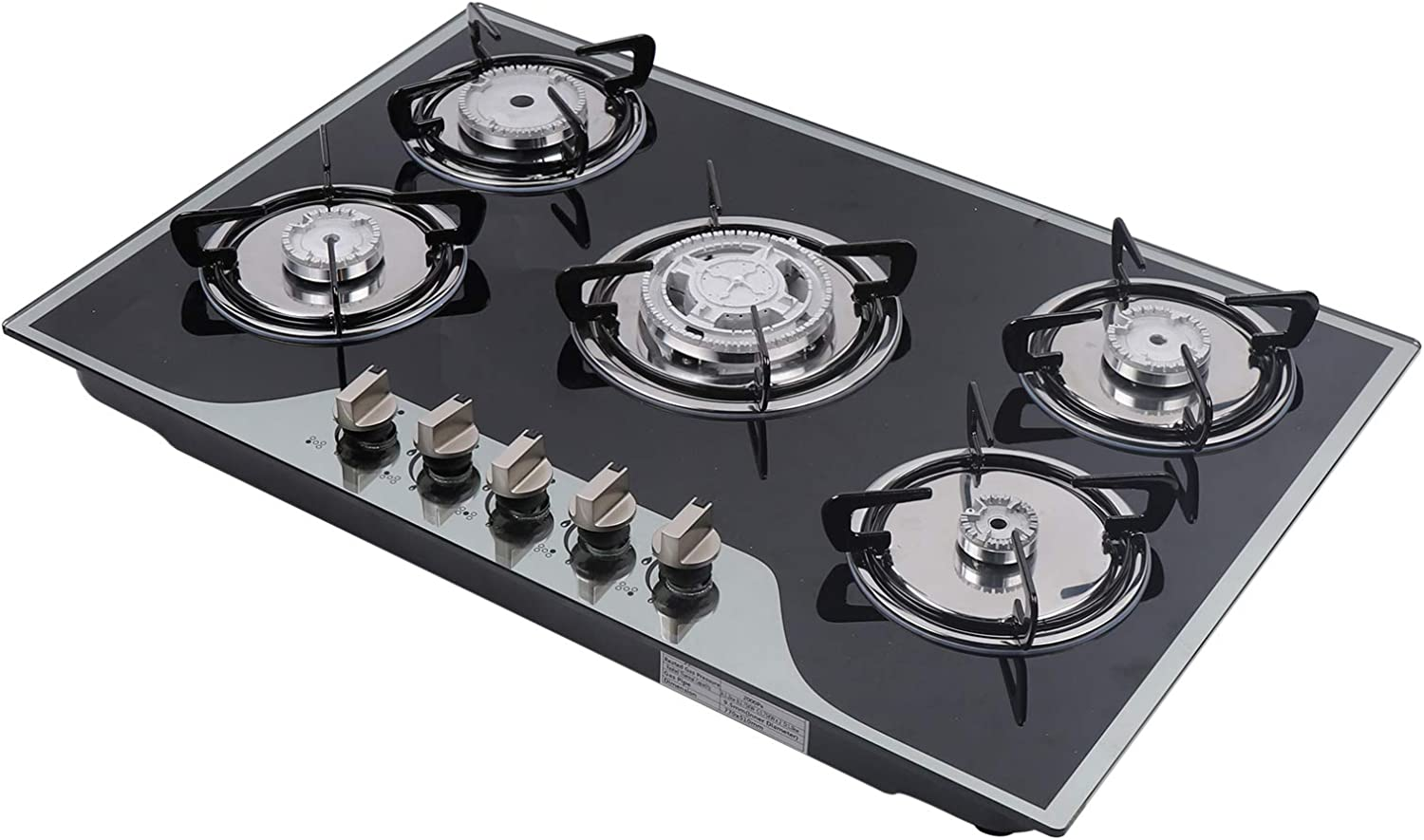 Gas Stove 5 Burners Built-in Gas Cooktop Aluminum Stove Head ...