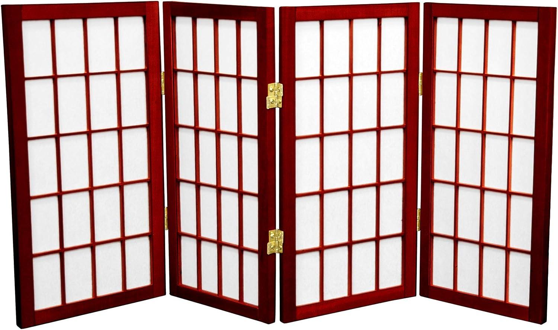 Oriental Furniture 2 ft. Tall Desktop - Max 69% OFF Pane Screen Shoji Window Max 47% OFF