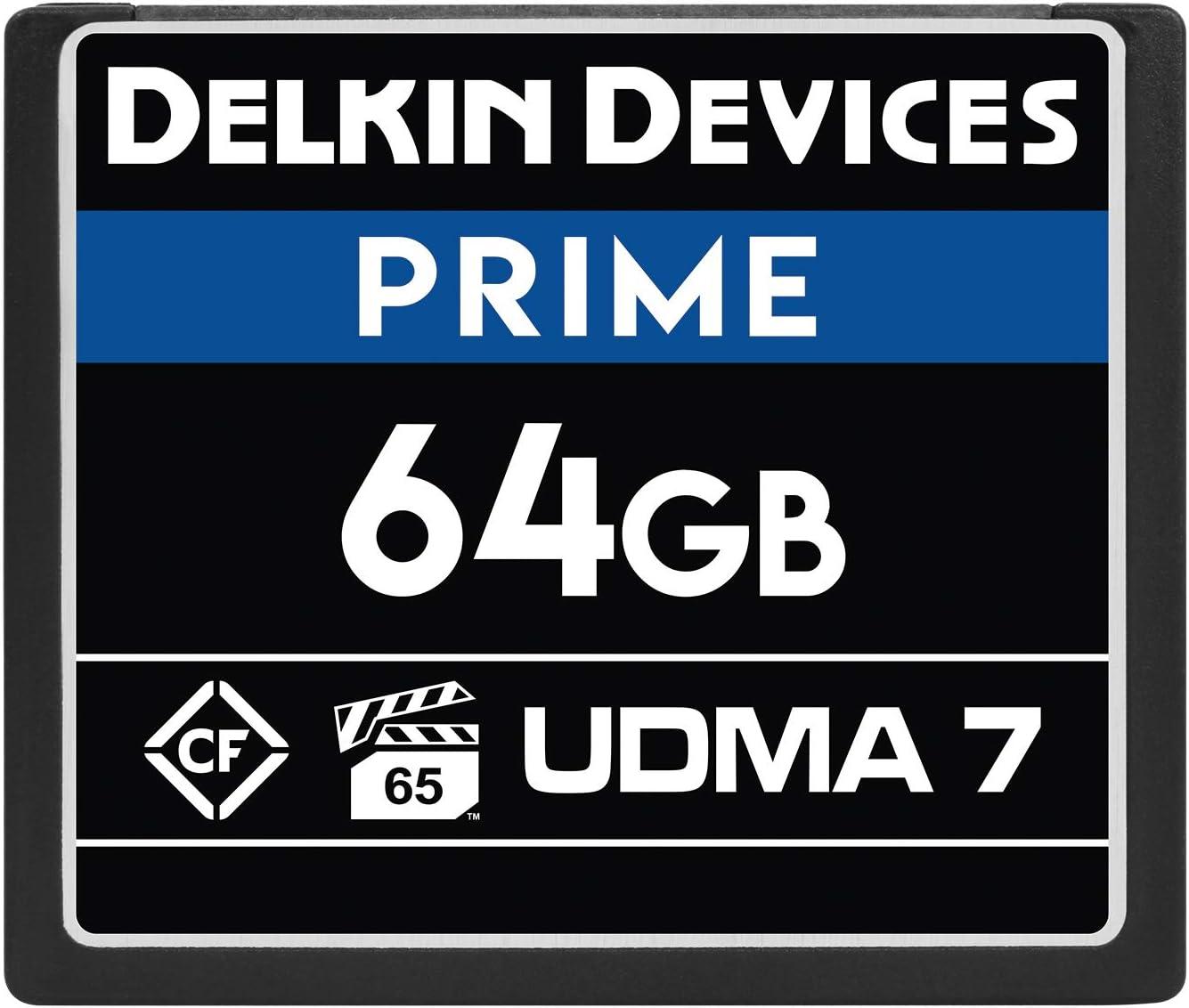 Delkin Devices 64GB Prime CompactFlash VPG-65 Memory Card (DDCFB105064G)