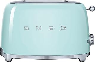 Smeg TSF01PGEU - Tostador (2 rebanada(s), Acero inoxidable,