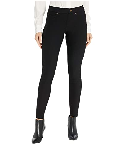 HUE Fleece Lined Denim Leggings (Black) Women