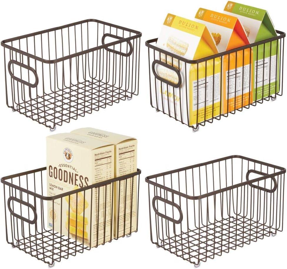 mDesign Metal Farmhouse Kitchen Pantry Food Ba New popularity Storage Organizer OFFicial shop