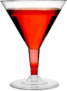 Desechables copas de Martini 5oz/140ml–juego de 12–plástico transparente 2piezas Vaso de cóctel