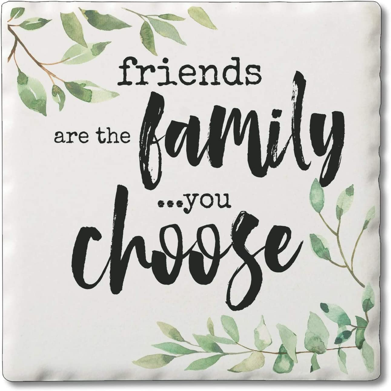 Unknown1 Stone Coasters Friends Fees free!! are 2021 of 4 Sandstone Set Family
