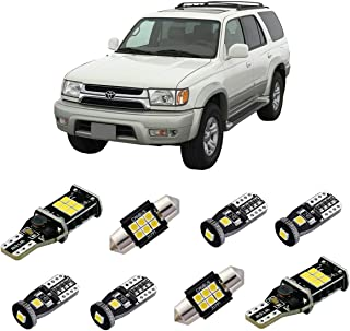 iBrightstar Super Bright Canbus LED Bulbs Package Kit fit for Toyota 4Runner 2003-2005 Interior Lights + License Plate Lights + Cargo Lights + Back Up Reverse Lights, Xenon White
