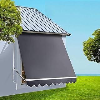 Instahut Window Door Awning 1.8x2.1m Retractable Pivot Arm Awning for Garden Patio Backyard