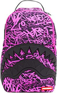Sprayground - Unisex Adult Pink Scribble Shark Backpack, Size: O/S, Color: Multi