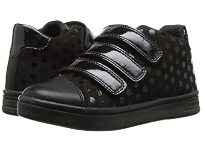 Geox Kids Jr Djrock 36 (Little Kid) (Black Oxford) Girls Shoes