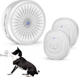 KISSIN Dog Door Bell with Wireless Touch Dog Bells for Potty Training and IP55 Waterproof Dog Training Door Bells