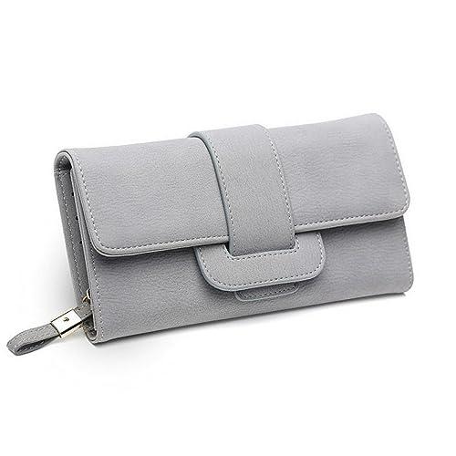 e829ce786b84 DNFC Women Wallet Purse Large Capacity Handbag Elegant Clutch Bag Leather  Billfold Long Card Holder Wallet