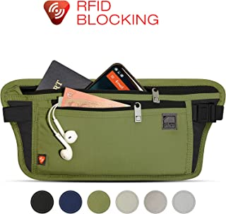 Lewis N. Clark RFID-Blocking Stash Anti-Theft Hidden Money Belt Waist Pack Olive One Size