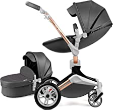 Hot Mom Kombikinderwagen 2 in 1 Kinderwagen 2021 Neues Design 360 Derhbar Dark Grey