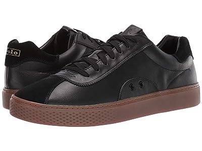 Polo Ralph Lauren Court 100 Lux (Black Leather/Suede) Men