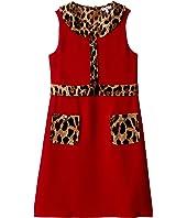 Cady Dress with Leopard Print Details (Big Kids)