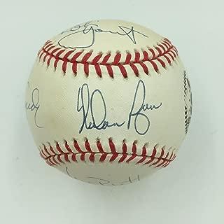 Nolan Ryan George Brett Robin Yount Cepeda Signed Hall Of Fame Baseball PSA DNA