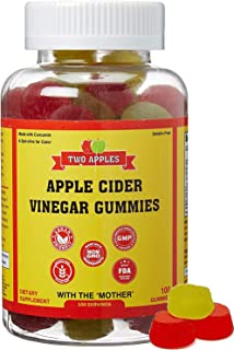 ACV Gummies - Raw Apple Cider Vinegar with Mother (Vegan and Non-GMO - 100 Gummies)