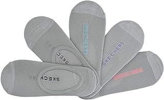 Skechers – Women's Active Non-Terry Semi Microfiber Liner Socks – S110706-095 Grey/Multi Pack of 5 Pairs 5-9.5