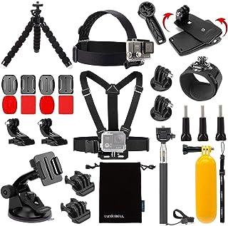 Luxebell Accessories Kit for AKASO EK5000 EK7000 4K WiFi Action Camera Gopro Hero 8 7 6 5/Session 5/Hero 4/3+/3/2/1 Max Fu...